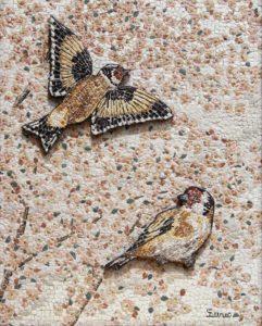 Cardellini in rilievo / Goldfinches in relief