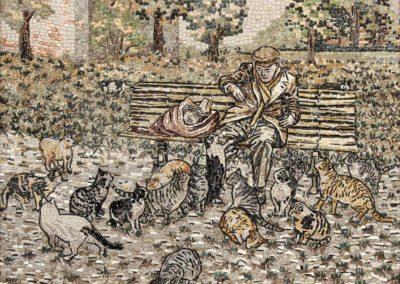 Gatti con clochard / Cats with homeless